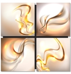 Abstract golden wave background vector image