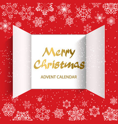 advent calendar doors opening vector image