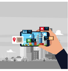 augmented reality mobile future technology vector image
