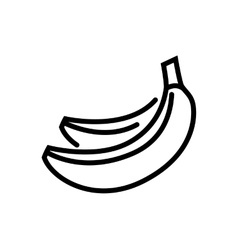 Banana line icon vector image