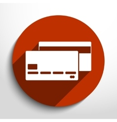 Bank card web flat icon vector