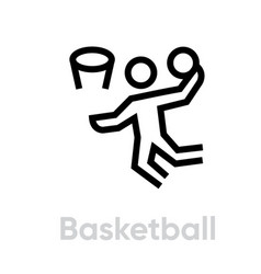 basketball sport icons vector image