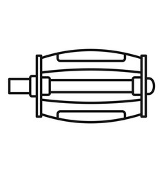 Bike pedal icon outline style vector