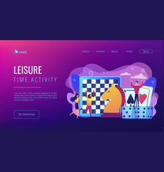 Board game concept landing page vector
