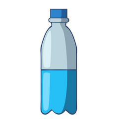 bottle of water icon cartoon style vector image