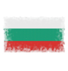 Bulgarian flag halftone vector