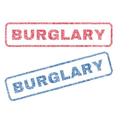 Burglary textile stamps vector