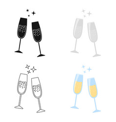 Champagne glass icon of for vector