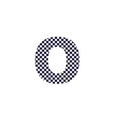Checker pattern logo letter o vector