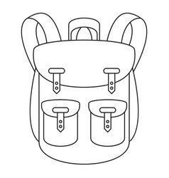 Climbing backpack icon outline style vector