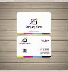 cmyk business card vector image