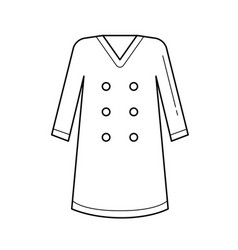 coat line icon vector image