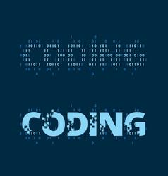 Coding wordmark vector