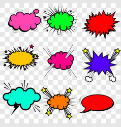 collection multicolored comic sound effects vector image