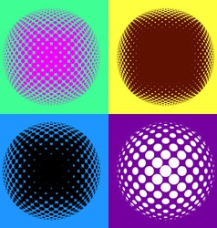 Colorful halftone design elements vector image