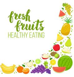 Corner frame fruits vector