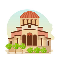 cultural center of byzantium city of greece vector image
