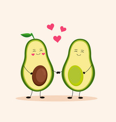cute avocado avocado love vector image