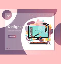 designer website landing page design vector image