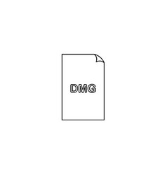 dmg format document line icon outline sign linear vector image