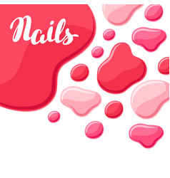 drops of nail polish vector image