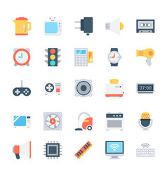 Electronics Colored Icons 4 vector image