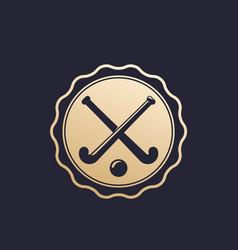 Field hockey badge emblem vector