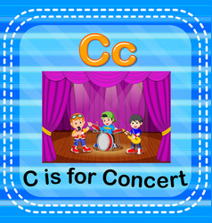 Flashcard letter c is for concert vector