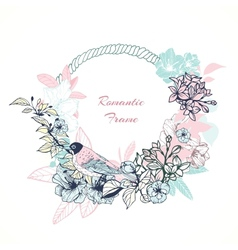 Gentle romantic frame vector image