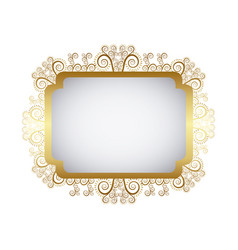 Gold metal emblem icon vector