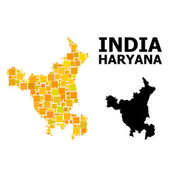 Gold square pattern map haryana state vector