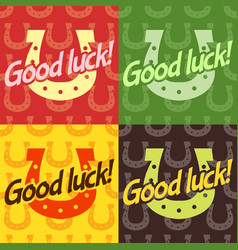 Good luck text farewell lettering with vector