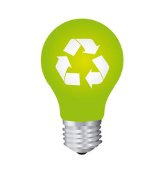 green bulb eco icon vector image