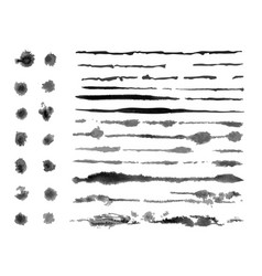 grunge brush strokes ink vector image