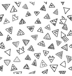 hand drawn sketch of abstract triangle vector image