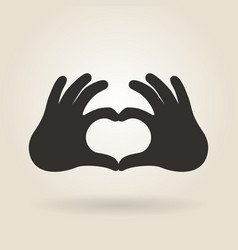 Hand Gesture a Sign of Heart vector
