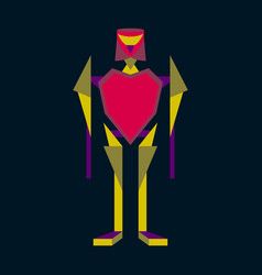Icon in flat design toy robot vector