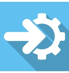 Integration Flat Square Icon with Long Shadow vector