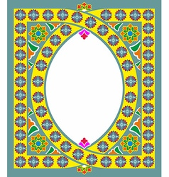 Islamic and arabic frame pattern with space for vector