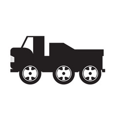 isolated truck toy icon vector image