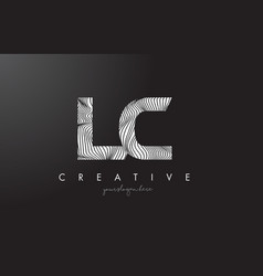 Lc l c letter logo with zebra lines texture vector