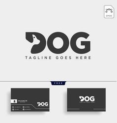 Letter d dog pet animal line art style logo vector