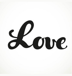 Love calligraphic inscription on a white vector