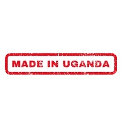 Made In Uganda Rubber Stamp vector