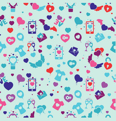 marker drawn different heart shapes vector image