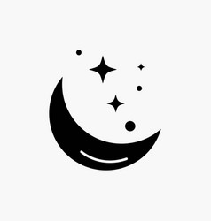 moon night star weather space glyph icon isolated vector image