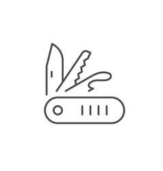 multitool or penknife line icon vector image