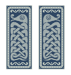 mythological serpent jormungand in vector image