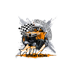 Off-road atv buggy logo extreme championship vector