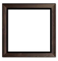 Old wooden picture frame vector